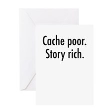 Cache poor.png Greeting Card