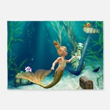 Cute Mermaid 2 5'x7'Area Rug