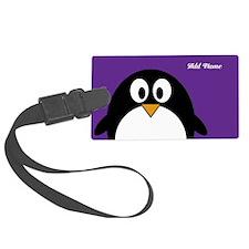 cute penguin cartoon Luggage Tag