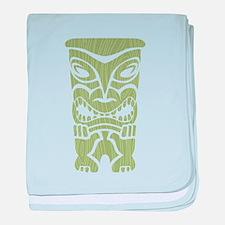 Angry Tiki! baby blanket