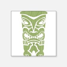 "Angry Tiki! Square Sticker 3"" x 3"""
