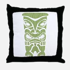 Angry Tiki! Throw Pillow