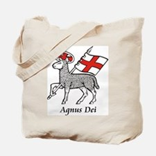Agnus Dei with Flag of St. George Tote Bag