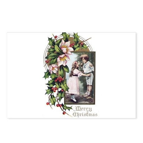 Vintage Boy and Girl X-masPostcards (Package of 8)