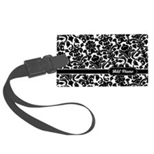 elegant damask with name Luggage Tag