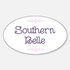 """Southern Belle"" Oval Decal"