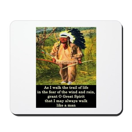 THE TRAIL OF LIFE Mousepad