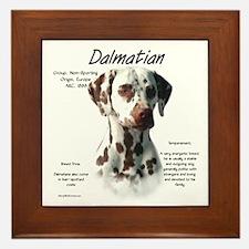 Liver Dalmatian Framed Tile