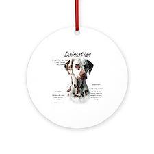 Liver Dalmatian Ornament (Round)