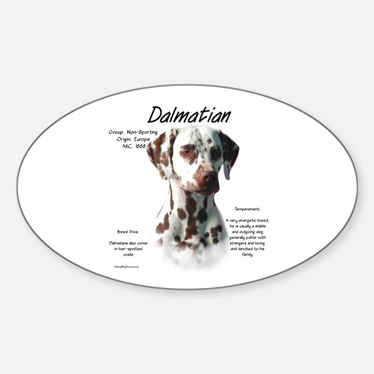 Liver Dalmatian Oval Decal