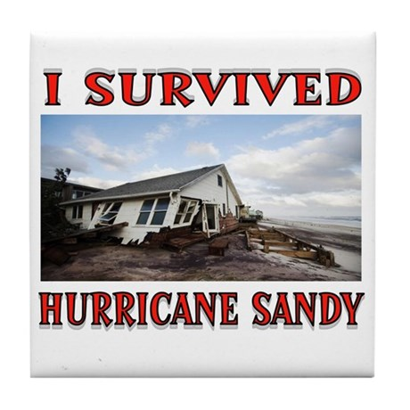 HURRICANE SANDY Tile Coaster