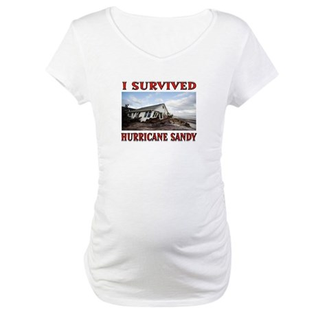 HURRICANE SANDY Maternity T-Shirt