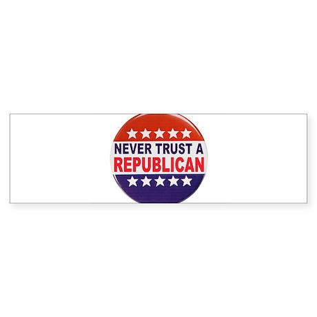 REPUBLICAN POLITICAL BUTTON Sticker (Bumper)