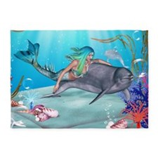 The Mermaid 5'x7'Area Rug