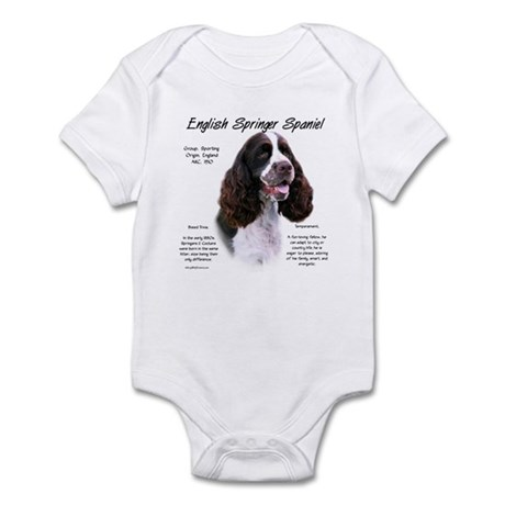 Liver English Springer Infant Bodysuit