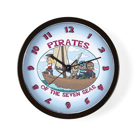 Pirates of the 7 Seas Wall Clock