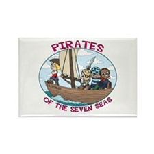 Pirates of the 7 Seas Rectangle Magnet