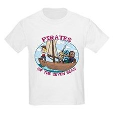 Pirates of the 7 Seas Kids T-Shirt