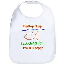 PopPop Says I'm A Keeper Bib