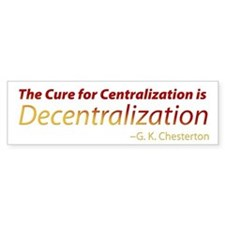 Decentralization Bumper Sticker