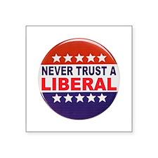 """LIBERAL POLITICAL BUTTON Square Sticker 3"""" x 3"""""""