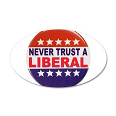 LIBERAL POLITICAL BUTTON Wall Decal