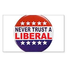 LIBERAL POLITICAL BUTTON Decal