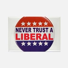 LIBERAL POLITICAL BUTTON Rectangle Magnet (100 pac