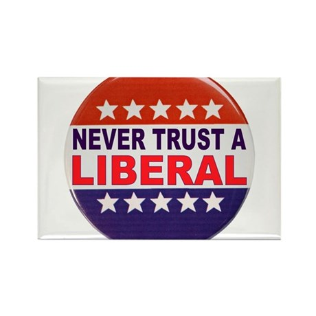 LIBERAL POLITICAL BUTTON Rectangle Magnet (10 pack