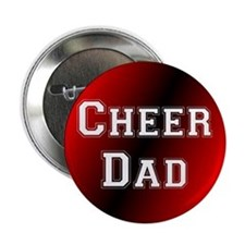 Cheer Dad Black and Red Button