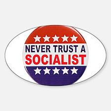 SOCIALIST POLITICAL BUTTON Sticker (Oval)
