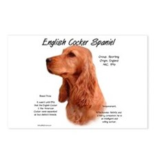 Red English Cocker Spaniel Postcards (Package of 8