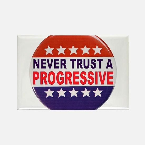 PROGRESSIVE POLITICAL BUTTON Rectangle Magnet