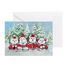 Christmas Westies Greeting Cards (Pk of 20)