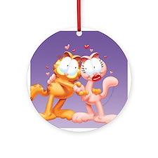 Garfield and Arlene Ceramic Ornament (Round)