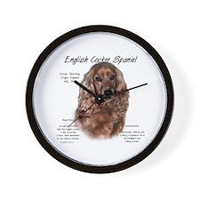 Liver English Cocker Spaniel Wall Clock