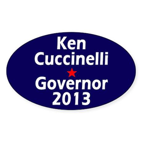 Ken Cuccinelli Governor 2013 Sticker (Oval)