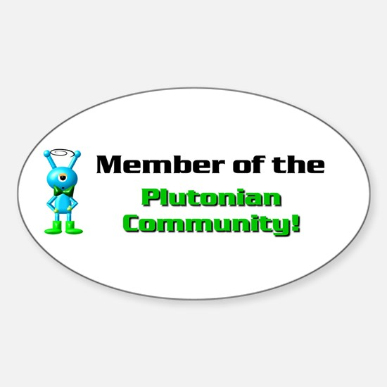 PLUTO MEMBER Oval Decal