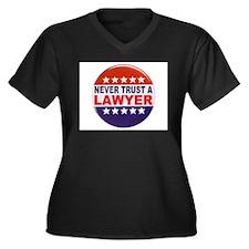 LAWYER POLITICAL BUTTON Women's Plus Size V-Neck D