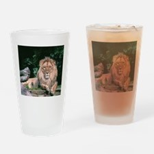 Lazy Lion Drinking Glass