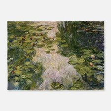 Water Lilies, Monet 5'x7'Area Rug