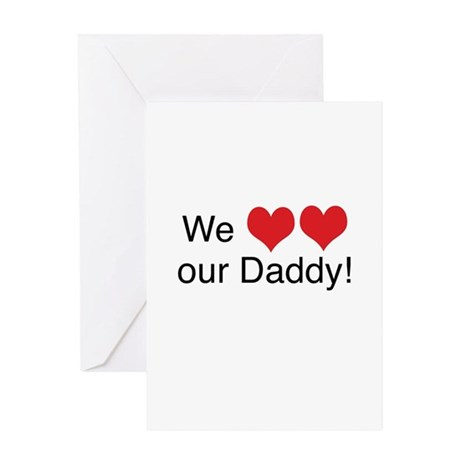 heart daddy Greeting Cards