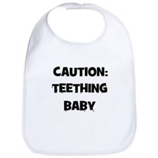 Caution: Teething Baby Bib