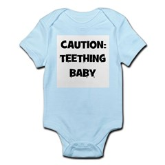 Caution: Teething Baby Infant Creeper