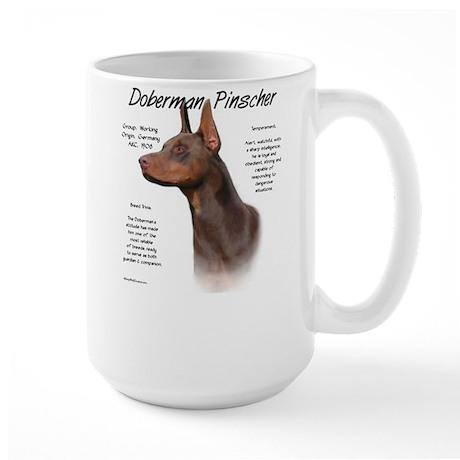 Red Doberman Pinscher Large Mug