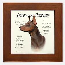 Red Doberman Pinscher Framed Tile
