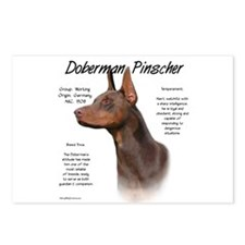 Red Doberman Pinscher Postcards (Package of 8)