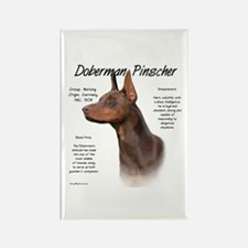Red Doberman Pinscher Rectangle Magnet