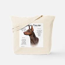 Red Doberman Pinscher Tote Bag