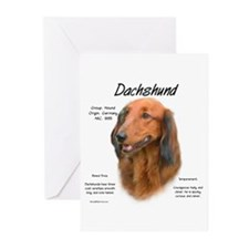 Longhaired Dachshund Greeting Cards (Pk of 10)